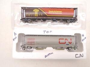 Intermountain Ho Cylindrical Hoppers(2), SKPX + Canadian National, x4