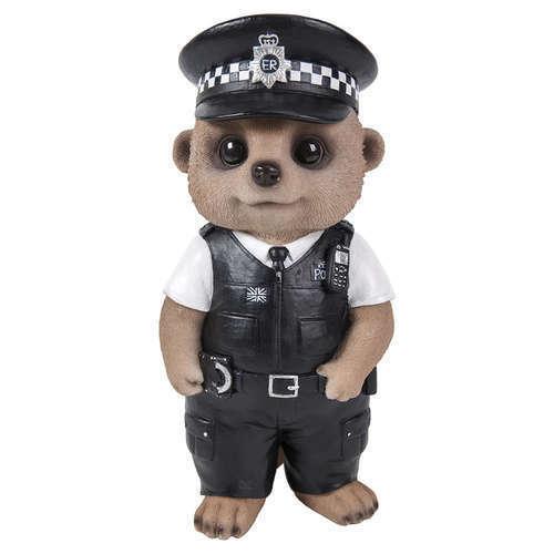 BRAND NEW POLICEMAN MEERKAT GARDEN ORNAMENT