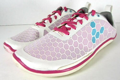 White//Pink US 7 Big Kid Vivobarefoot Evo Pure Lightweight Running Shoes