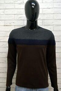 Maglione-Maglia-Pullover-Cardigan-Grigio-Uomo-JECKERSON-Taglia-M-Sweater-Slim