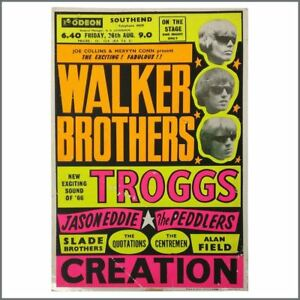 The Walker Brothers 1966 Odeon Southend Promotional Window Card Uk Ebay
