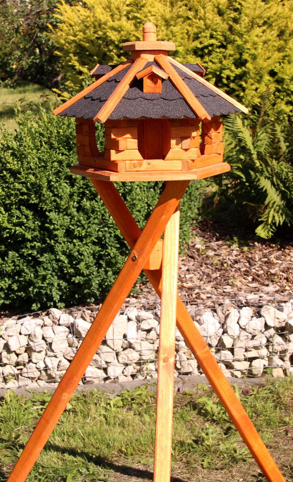 Vogelhäuser Vogelhaus mit Ständer behandelt Typ 4 | Erste in seiner Klasse  | Lebhaft  | Hochwertige Produkte