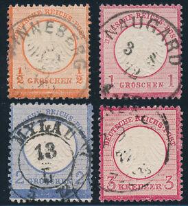 DR-1872-Brustschilde-Partie-ex-MiNr-3-9-sauber-gestempelt-Mi-105