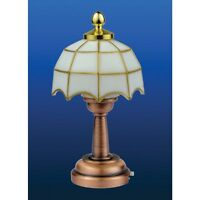 Dolls House Miniatures 1/12 Scale Tiffany Table Lamp Led No Wiring Needed De311