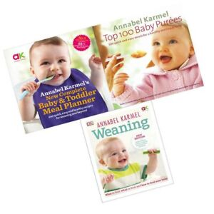 Annabel-Karmel-Collection-3-Books-New-Complete-Baby-Weaning-Top-100-Baby-Purees