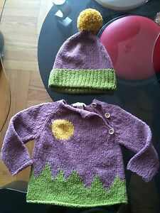 Kiwiindustries Girls/boys Sun & Moon Sweater & Hat Set Sz 6-12,24+ Outfits & Sets Baby & Toddler Clothing