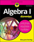 Algebra I For Dummies by Mary Jane Sterling (Paperback, 2016)