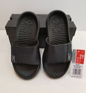 2be2f1c2f413 NEW WITH BOX UNDER ARMOUR BLACK UA STEPHEN CURRY III SLIDES SANDALS ...