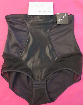 5466b90f466b43 NEW Jaclyn Smith Smoothing Hi Waist Brief Shapewear Black Panties Womens M  Med
