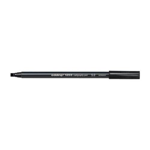 EDDING 1255 FIBER TIP CALLIGRAPHY PENS BLACK INK ITALIC CHISEL TIP 2 3.5 /& 5mm