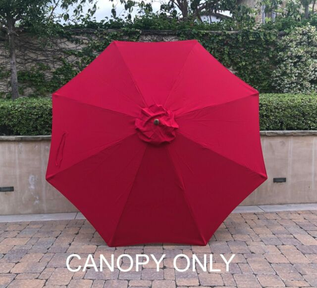 Patio Market Umbrella 8 Canopy Replacement Red