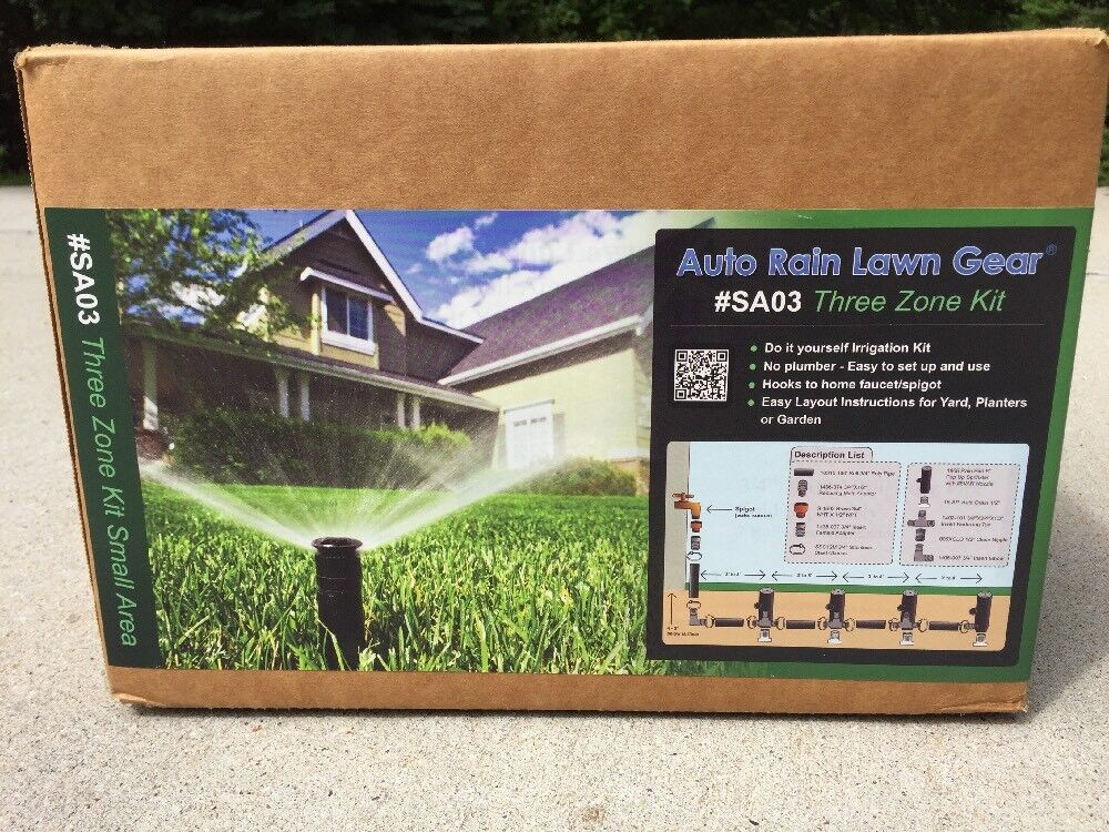 AUTO RAIN LAWN GEAR (SA03) (SA03) (SA03) Rain Bird Irrigation Automatic Sprinkler 3 Zone Three ea07d8