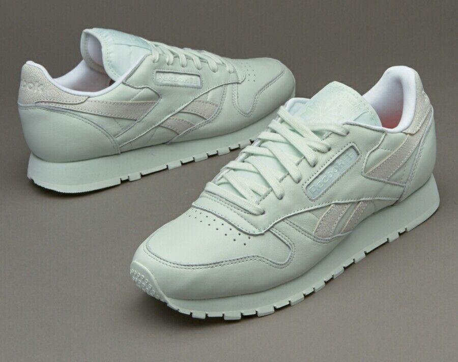 Nuevo Reebok Para Para Para Mujer De Cuero Clásico Zapatillas-filosófica (como) Talla 8 V69380  a precios asequibles