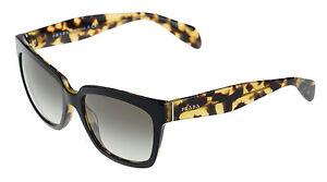 50aa2054b57bf ... cheap image is loading new authentic prada black blonde havana sunglasses  spr d5f69 6ba72 ...