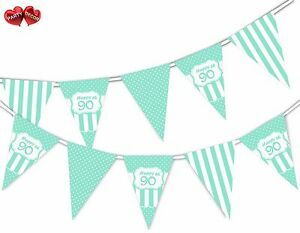 Happy-90th-Mint-Happy-Birthday-Anniversary-Themed-Bunting-Banner-by-PARTY-DECOR