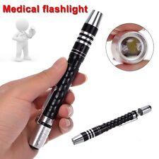 Black Pen Light Portable Medical Doctor Nurse Torch Mini LED Small Flashlight LN