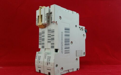 MERLIN GERIN 25853 C60HB202 2A 2AMP B TYPE B2 DOUBLE POLE DP 2P MCB FUSE SWITCH