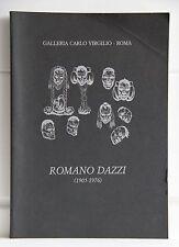 ROMANO DAZZI 1905 - 1976  Galleria Carlo Virgilio Roma 1988
