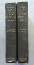 RACE LIFE OF THE ARYAN PEOPLES  1907  VOL 1  The Old World  VOL 2  The New World