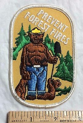 Smokey the Bear Vintage Retro United States Forest Service USFS Patch