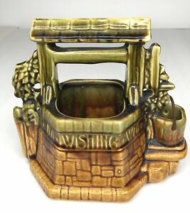 McCoy Pottery Wishing Well Planter Oh Wishing Well Grant A Wish To Me USA