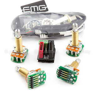 new emg solderless wiring conversion kit for 1 2 pickups hz passive long shaft 654330801006 ebay. Black Bedroom Furniture Sets. Home Design Ideas