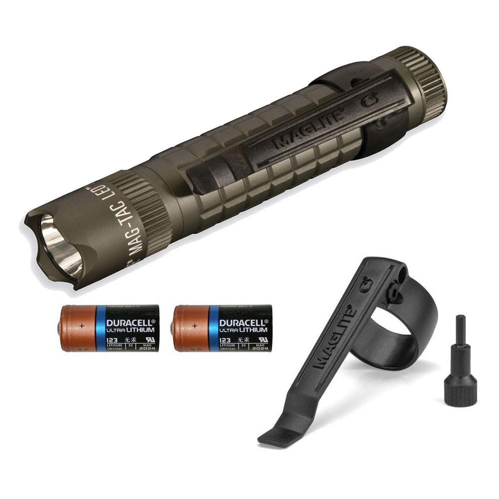 Maglite Mag Tac SG2LRB6 320 Lumens Lumens Lumens Crowned Bezel LED Flashlight with Strobe 0008cd