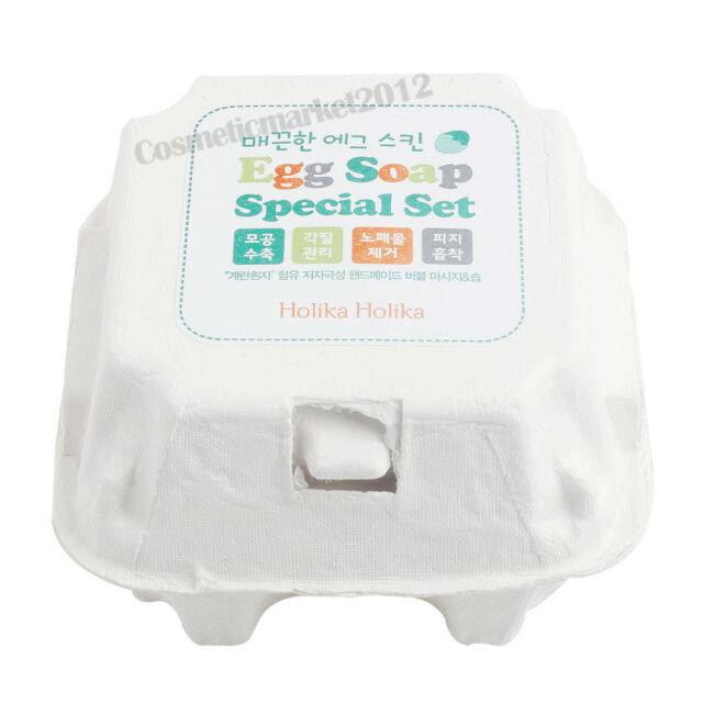 Holika Holika Egg Soap Special Set 4 type (50g x 4 pcs)  Free gifts