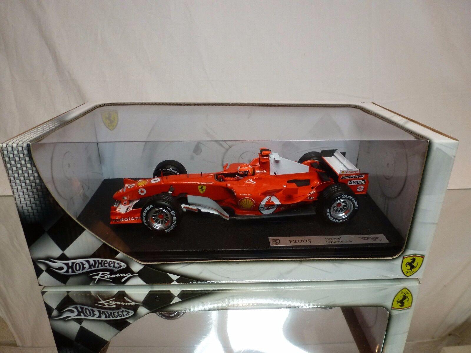 HOT WHEELS G3764 FERRARI F2003 -  2 - SCHUMACHER BARICHELLO F1 1 18 - SEALED BOX