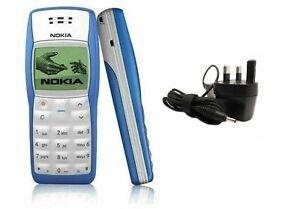 NUOVO NOKIA 1100 AZZURRO sbloccato telefono cellulare-UK 12 mesi di garanzia