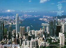 Victoria Harbor from Lugard Road, The Peak, Hong Kong, China, HK --- Postcard