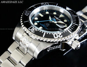 NEW-Invicta-Men-300M-Black-Dial-Automatic-Grand-Diver-Stainless-Steel-Watch