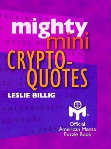 Mighty Mini Crypto-Quotes [Mensa]