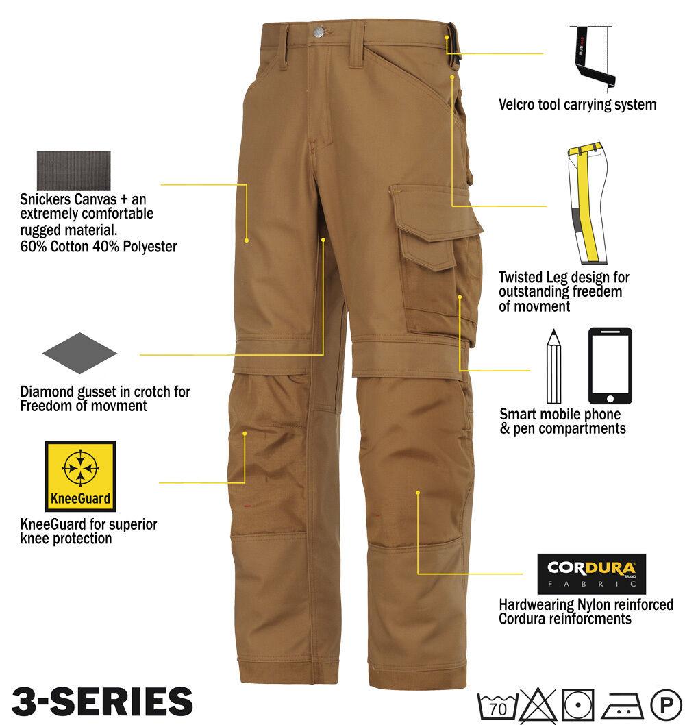 SNICKERS 3314 Pantaloni Snickers tela pantaloni da lavoro Snickers Pantaloni DIRETTO Marrone fd3553