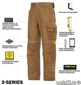 3581634ba78 La imagen se está cargando Snickers-3314-Pantalones-lona-pantalones-de- Trabajo-Snickers-