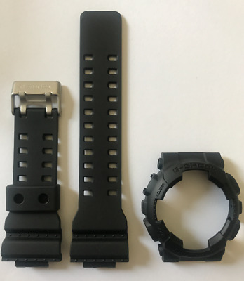 Casio Original G Shock Band Strap Ga 100 Ga 100 1a1 Black Bezel Cover Ga100 840596082383 Ebay