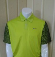 Nike Men's Tw Performance Graphic Polo - Large - Venom Green - With Tags