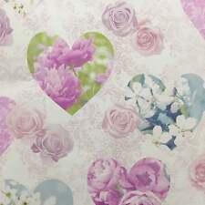 Fine Decor Wallpaper - Vintage Hearts Roses - Dark Pink - Girls Room - FD41913