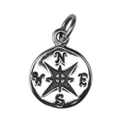 SC6280 Compass Moon Charm Silver Tone Follow Your Dreams 2 Piece Charm