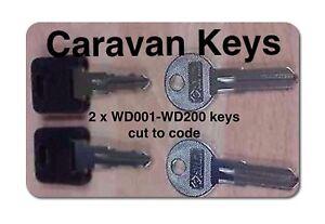 2-x-CARAVAN-KEYS-CUT-TO-CODE-WD-001-TO-WD-200