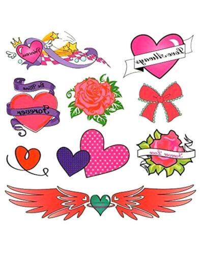 Filles Faux semblant tatouages temporaires 40 Designs