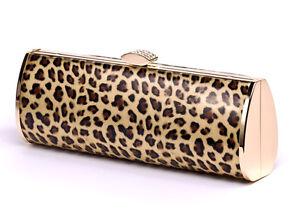 Image Is Loading Las Occasion Handbag Leopard Print Clutch Bag Designer