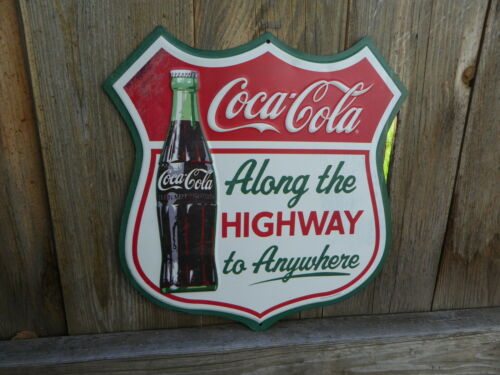COCA COLA Along the Highway To Anywhere COKE Vintage Style Road Tin METAL SIGN