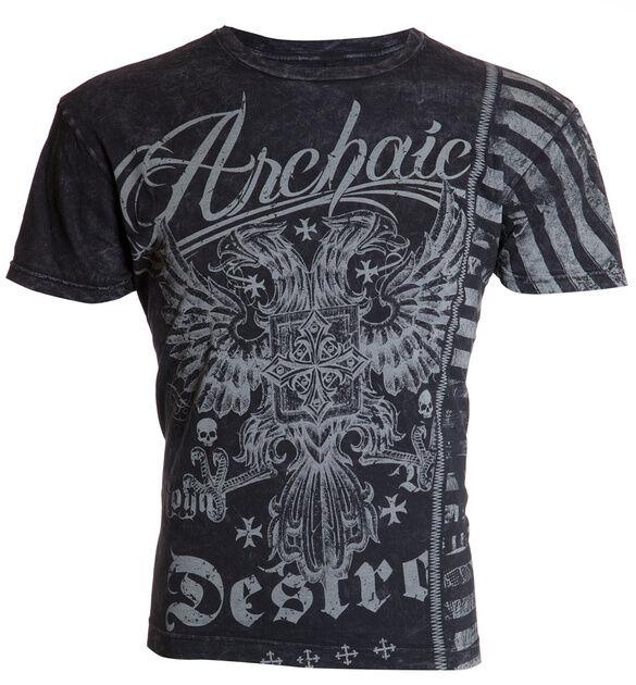 Archaic AFFLICTION Mens T-Shirt DOUBLE TIME Eagle Tattoo Biker MMA UFC M-4XL $40