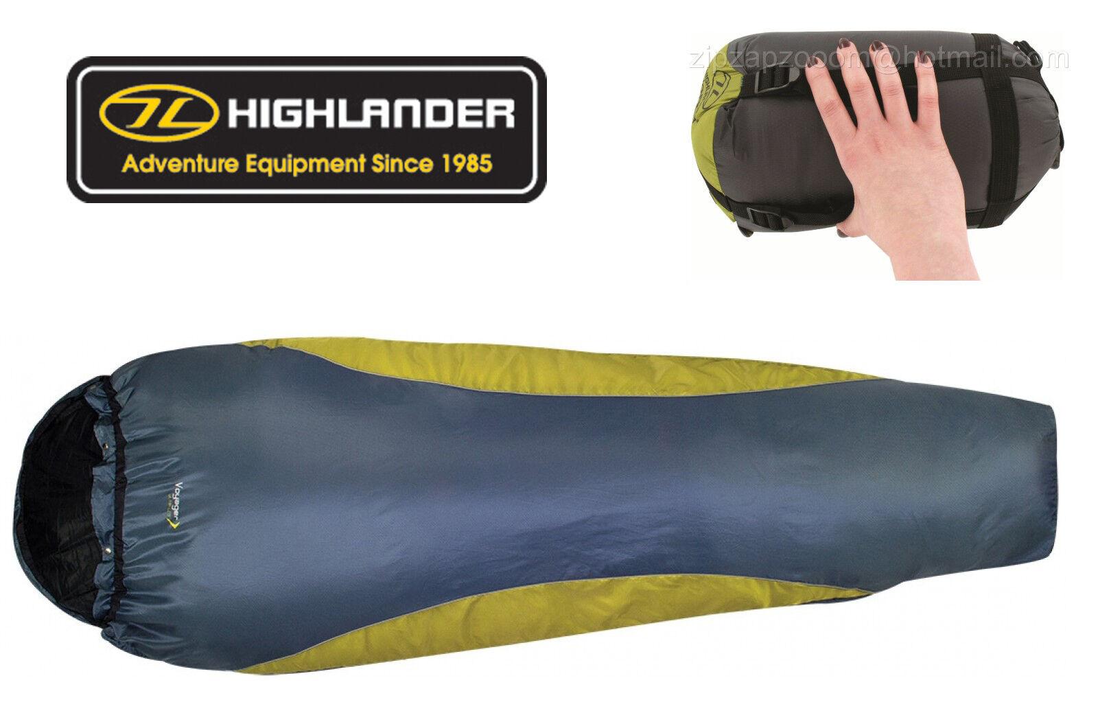 Highlander Travel Ultra Lite Mummy Compact Lightweißht Voyager Sleeping Tasche