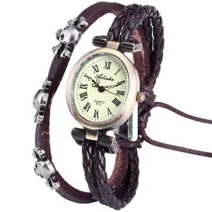montre femme ovale bracelet cuir