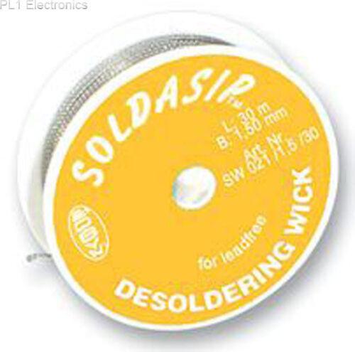 dissaldare treccia 5//30 Pb-free Edsyn-sw021//1 1.5mmx30m