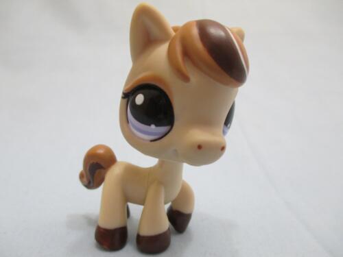 Littlest Pet Shop Tan Brown Swirl Horse Pony 1142 Authentic LPS