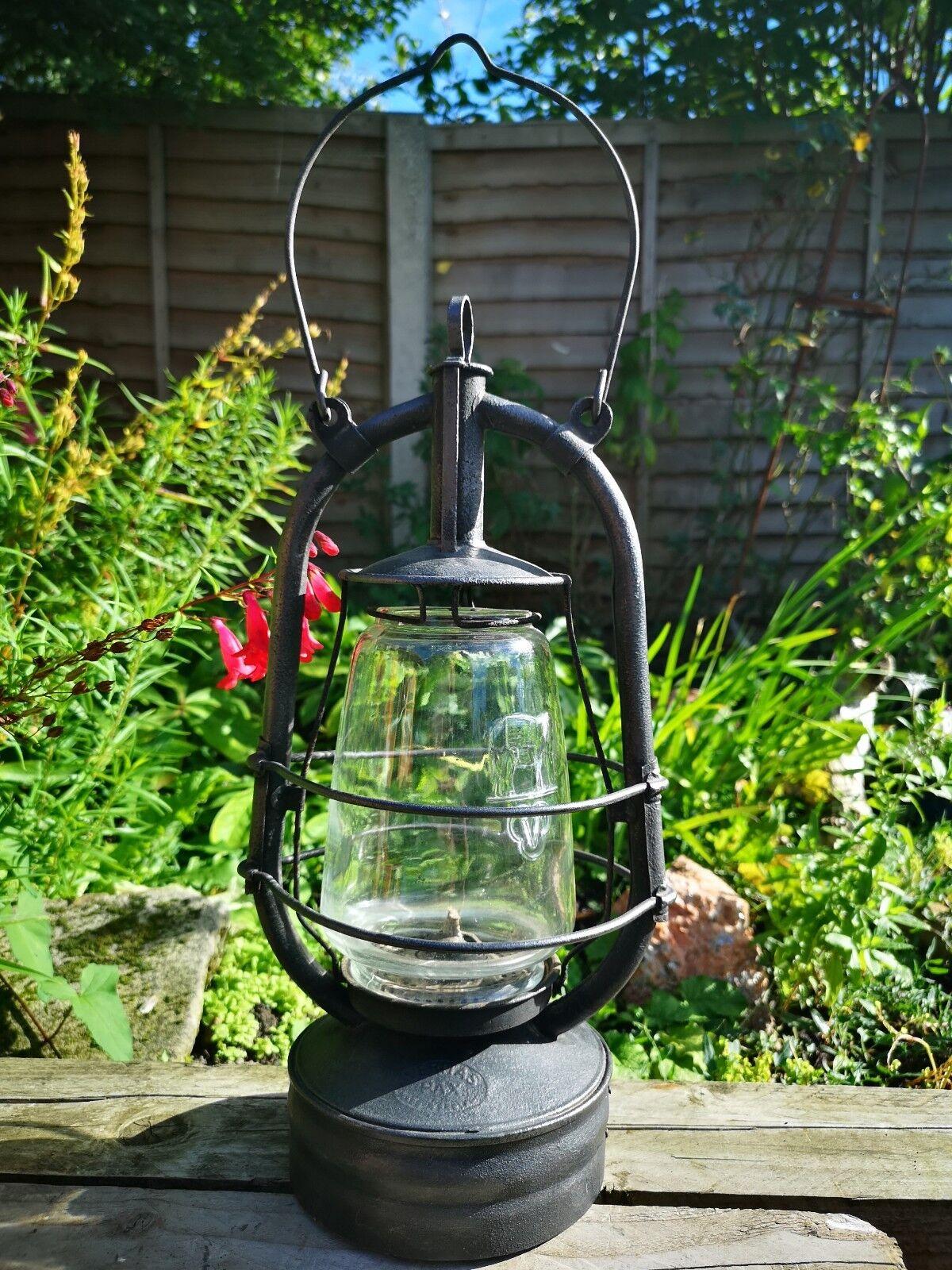 Timewarp 1940s Veritas Wartime Railroad Storm Paraffin Lantern Lamp Vintage Rare
