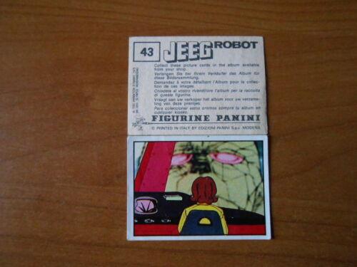 ED PANINI 1979 completa di velina figurina JEEG ROBOT n.43